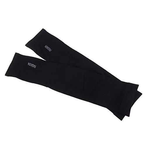 LIOOBO Arm Sun Sleeves UV Schutz Kühlung für Männer Frauen Sunblock Kühler Schutz Outdoor Sports Laufen Golf Radfahren Basketball Fahren Angeln (Schwarz)
