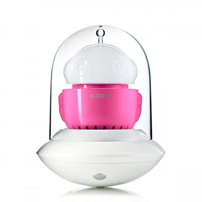 Alessi Lux mobile LED Tischleuchte Ufo, weiß/rosa