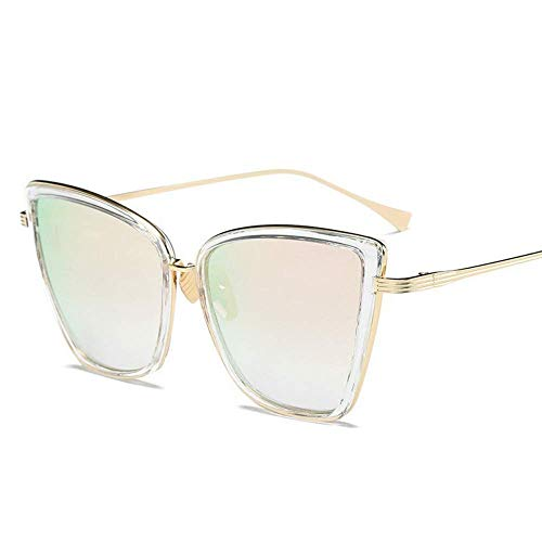Sonnenbrille Sonnenbrille Damen Black Mirror Sun Sunglass Uv400