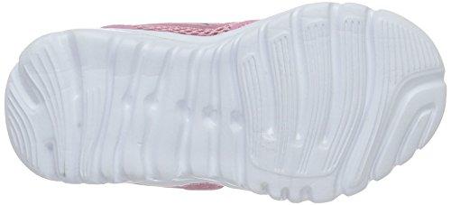KangaROOS Inlite 3003b, Baskets Basses Mixte Enfant Pink (Pink/DK smaragd)