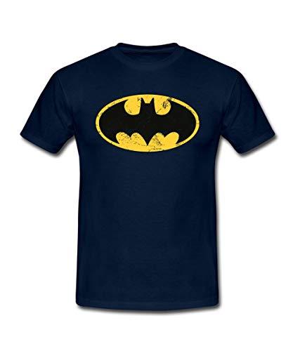 Spreadshirt DC Comics Batman Logo Used Look Männer T-Shirt, XXL, ()