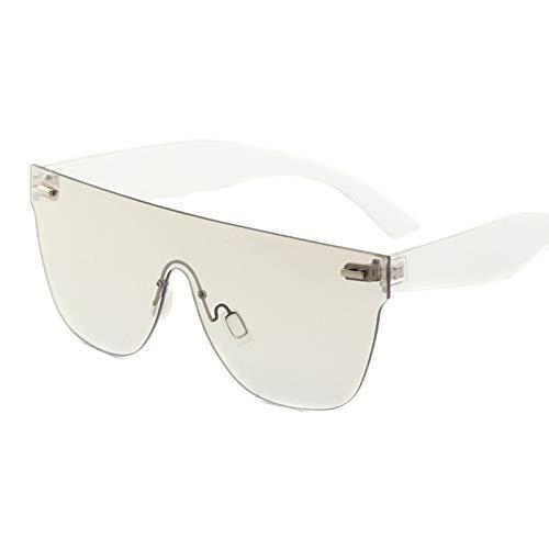 CCGKWW Randlose Sonnenbrille Frauen TrendprodukteDamenmode Schattierungen Gelb Orange LilaSonnenbrilleOculos De Sol Feminino
