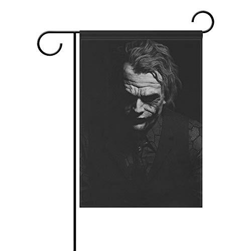 Seasonal Garden Flaggen Gruselgesicht Joker - festliches Outdoor Hofbanner aus stabilem Polyester doppelseitig Hausdekoration Urlaub Rasen Terrasse Dekoration, Polyester, Color-1, 28