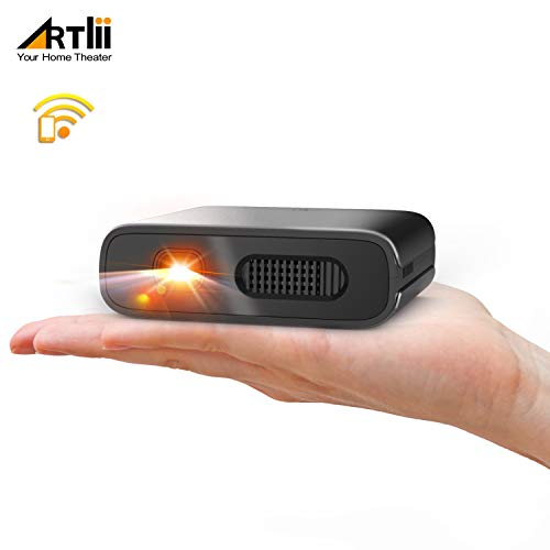 Proyector Portatil WiFi - Artlii Mana Mini Proyector 3D, Compatible con Fire TV Stick, PC, Android e iOS con Batería de 5200mAh