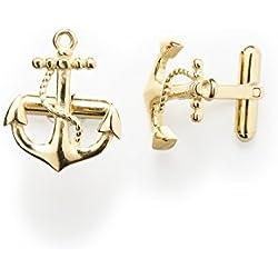 """'Gemelos Hombre """"Anchor 1par cuffl Inks Oro Acero Inoxidable de Royal de EGO–ALTA CALIDAD ancla diseño accesorio de perfecto para bodas, traje joyas de 1224"""