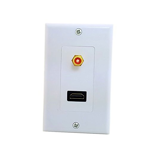 Koaxialkabel RCA & HDMI HDTV Audio Video Jack Wall Face Plate-Panel 118mm 120mm Viereck Art Jack Wall Plate