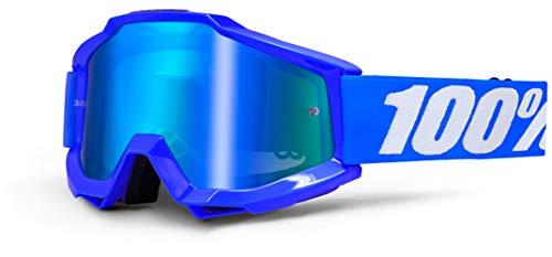 100 % PROZENT ACCURI REFLEX BLAU BRILLE GOGGLE 2014 MOTOCROSS CROSS MTB QUAD ATV SUPERMOTO (Blau Verspiegelt)