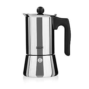 BEEM ESPRESSOMAKER Espressokocher - 4 Tassen   Classic Selection   Herdkocher   Induktion   Edelstahl   Espresso - Kanne   Mokkakanne  Klassisch
