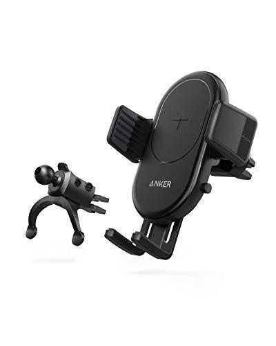 Anker PowerWave - Caricabatteria da Auto Wireless per telefoni cellulari compatibili con Qi, con Supporto di Ventilazione, Certificato Qi, 7,5 W per iPhone, 10 W per Samsu