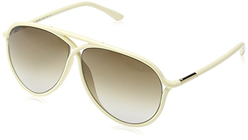 Tom Ford FT0206 Aviator Sonnenbrille, Sparkling Ivory & Rose Gold Frame / Gradient Brown