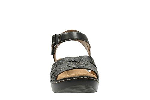 Sandali e infradito per le donne, colore Nero , marca CLARKS, modello Sandali E Infradito Per Le Donne CLARKS DELANA VARRO Nero Black