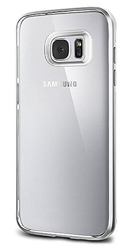 Coque Galaxy S7 Edge, Spigen [Neo Hybrid Crystal] PREMIUM BUMPER [Satin Silver] Clear TPU / PC Frame Slim Dual Layer Premium, Coque Samsung Galaxy S7 Edge (2016) - (556CS20046)
