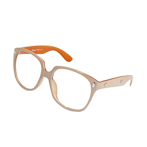 Khaki-objektiv (Frau Pair Formatfüllend freie Objektiv-Kunststoff Plano Brillen orange Khaki)