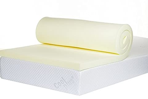 Bodymould Memory Foam Mattress Topper, 2 inch - UK Small Double