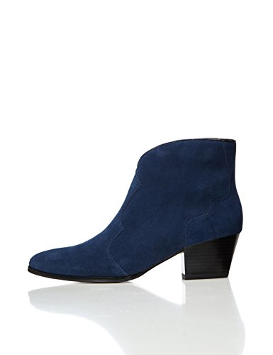 FIND Western Ankle, Stivali Donna Blu (Navy/black)
