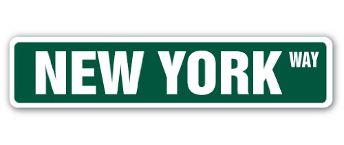 New York Street Sign NYC City Manhatten Broadway Times Square, plastik, 8 Inches x 36 Inches