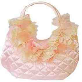 Ladies Zena Rose Pink Handbag With Raffia Trim