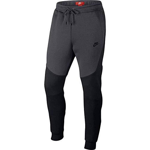 a1a1177071e144 Nike Herren M NSW TCH FLC Joggers Black Anthracite M