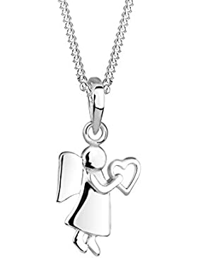 Elli Damen-Halskette mit Anhänger Engel 925 Sterling Silber Länge 45cm