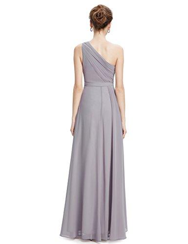Ever Pretty Robe de Soiree Longue Une Epaule 08758 Gris