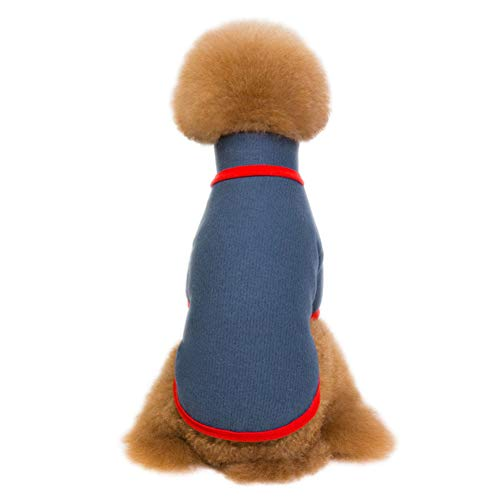 NAttnJf Hund Turtle Neck Kleidung Strickpullover Soft Winter Outdoor Outfit Heimtierbedarf Marine XXL Turtle Fur Fleece