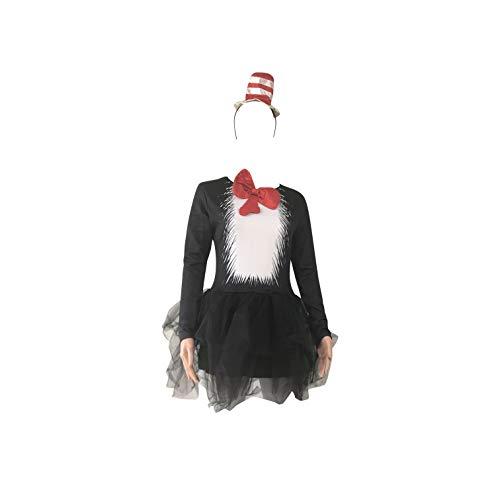 e mit Einem Hut Kostüm - Enthält UK Größe 8-14 (Women: 36, Black) ()