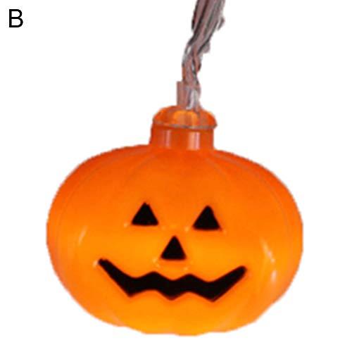 GSYClbf Halloween Bloody Realistische Horror Requisiten 5 Mt 10 LEDs Hängen Kürbis Schädel Lichterketten Lampe Garten Home Party Decor B