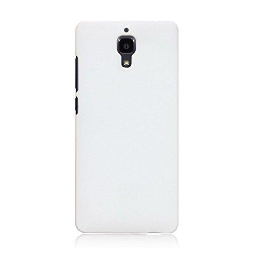 WOW Imagine Matte Rubberised Hard Case Back Cover For XIAOMI MI 4 MI4 (White)