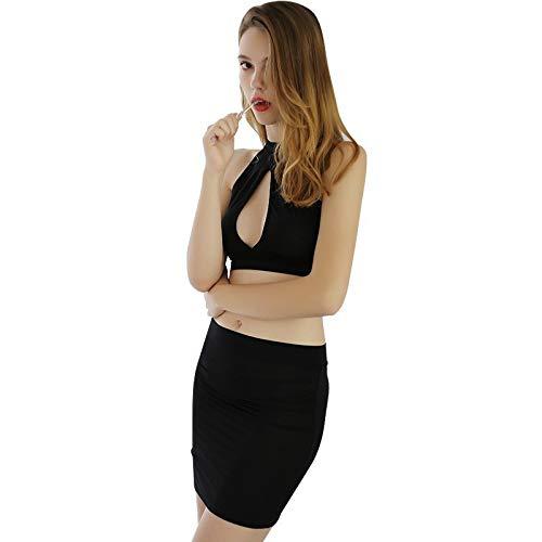 KEDCD Handschellen Sexspielzeug Sexy Sekretärin sexy Uniform Versuchung nackten Brust Sekretärin Versuchung, schwarz, Einheitsgröße -