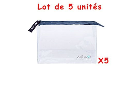 Trousse de toilette / Format Avion / Lot de 5