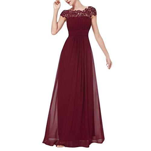 Damen Kleider Elegant Kleid Formale Kleid Spitze Patchwork Abendkleider Vintage Cocktailkleid Kurzarm Schlank Hochzeit Brautjungfern Kleid Maxikleid Langes Kleid Partykleid -