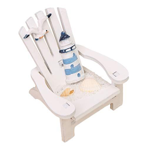 Homyl Puppenhaus Zubehör- Miniatur Liegestuhl Strand Stuhl, aus Holz