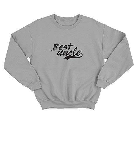 Best Uncle Award Love Family Baseball_000334 Pullover Unisex 2XL Black Crewneck Sweater Sweatshirt