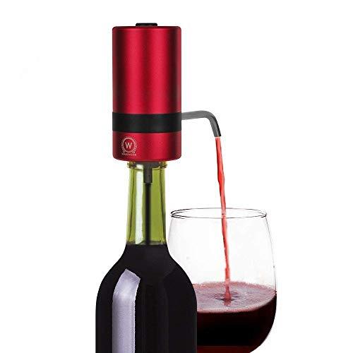Aireador Eléctrico para Vino - WAERATOR Decantador y Dispensador de Vino, Oxigenador de Vino, Ahorro de tiempo por Aireado Inmediato Pulsando un Botón (Baterías NO Incluidas)