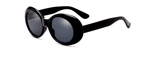 Muxplunt - Kleine runde Frauen-Sonnenbrille neueste Marke Schwarz Weiß Damen Herren UV400 Shades Vintage-Sonnenbrillen Lunette Femme gafas de sol [schwarz]