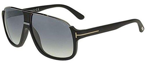 Tom Ford Herren FT0335 02W 60 Sonnenbrille, Schwarz (Nero Opaco/Blu Grad),