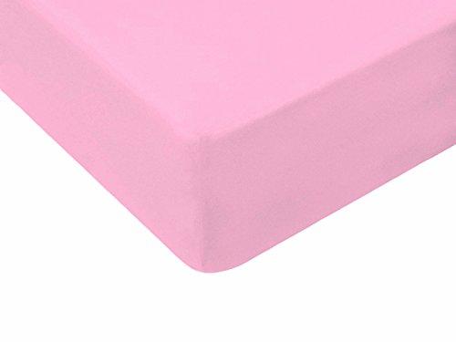 TM MAXX Qualität Baby Kinder Jersey Spannbettlaken 60x120-70x140 mit Öko-Tex Standart (80x160, rosa 005) (Bett-bettwäsche-stoff)