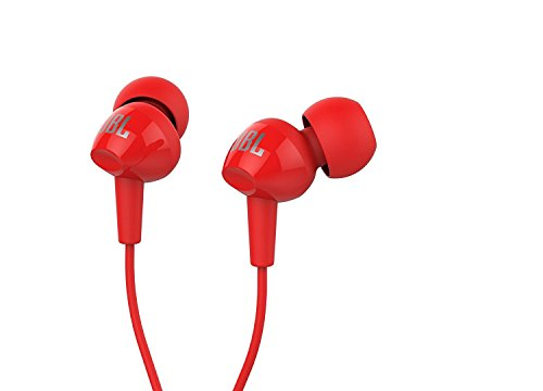 JBL C100SI Intra-auricolari Stereo con Telecomando con Microfono Universale ad un Pulsante, Rosso
