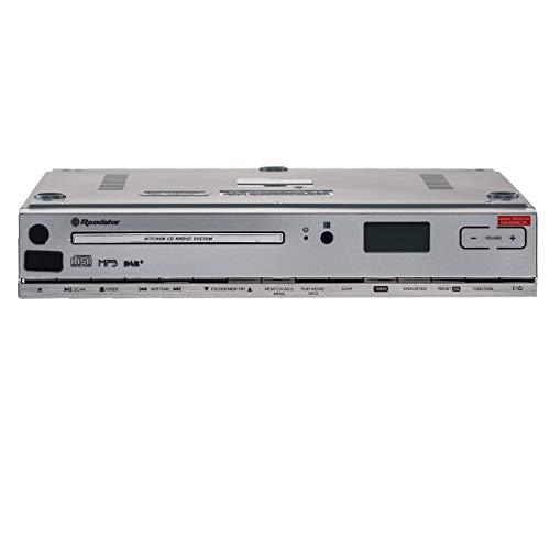 Roadstar CLR-2950 DAB + Küchen-Unterbauradio mit CD (CD-Spieler, MP3, USB, AUX, DAB+, Fernbedienung, Montage-Kit), weiß Küchen-kit