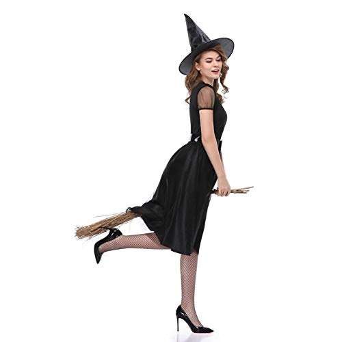 Herrin Der Kostüm Nacht - TIANFUSW Herrin Hexenkostüm Hexe Sexy Halloween Kostüm für Frauen, XL