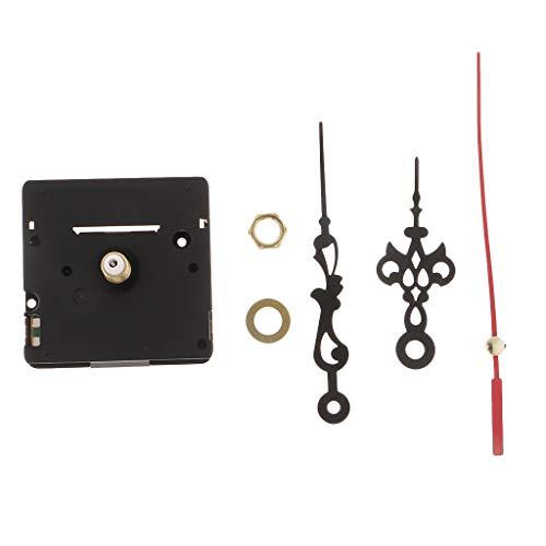 non-brand Sharplace 1 Stellen Uhrenteile Quarz Uhrwerk Uhr Werk Quarzuhrwerk mit Hände Motor für Wanduhr Reparatur Kit - Langer Schaft, 2,1 cm (Motor-kit Uhr Und Hände)