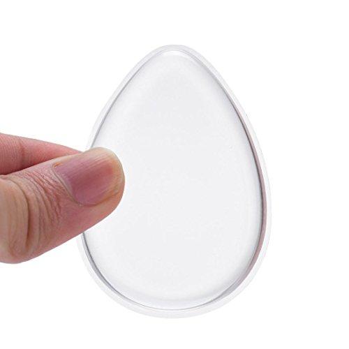 HKFV Neuheit-Silikon-Anti-Schwamm-Verfassungs-Applikator Blender perfekt für Gesichts-Make-Up (transparent)