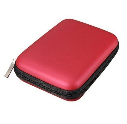 Tasmine Etui Sac Housse Pochette Portable Antichoc Externe Protection pr HDD Disque Dur 2.5 EVA Nylon (Red)