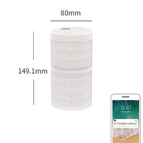 Smart Pill Box Mit Mini Feuchtigkeitsgeschützte Sealed Beweglicher Kleiner Timing-Box, Um Large Capacity Pack,Durchsichtig,D -