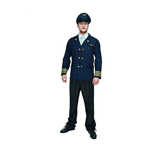 Seehasen Erwachsene Männer Super Pilot Kostüm