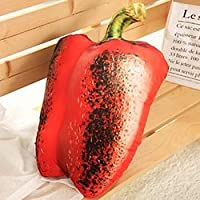 YOUHA Summer BBQ Plush Pillow Decor Barbecue Vegetables/Seafood Like Real Plush Food Pillow Eggplant/Bell Pepper/Corn/Potato/Pectinid Bell Pepper
