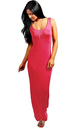 Femmes - Robe longue jersey dos nageur été grandes tailles Rouge