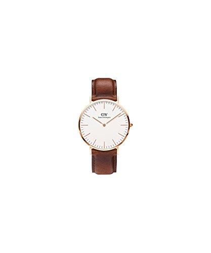 DANIEL WELLINGTON - Reloj de los hombres de 40 mm, DANIEL WELLINGTON MAWES ORO ROSA DW00100006