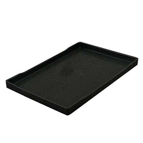 D DOLITY Melamin Servierbrett Küchenbrett zum Kochen, Backen, Servierbrett - Käsebrett - Obstplatte - Schwarz, F 38,2 × 27,8 cm (Melamin Kochen)