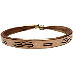 Discount4product Pure Copper Kada For Men & Women With Om Symbol